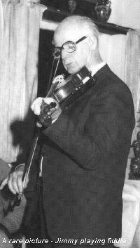 Sir Jimmy plays the fiddle